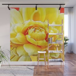 Yellow Rose Western Style Abstract Art Wall Mural