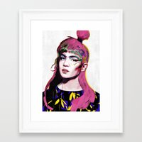 grimes Framed Art Prints featuring Grimes by Zaneta Antosik