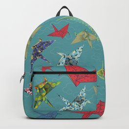 Washi Origami Cranes Backpack