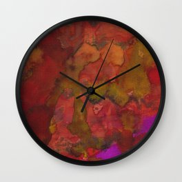 Red Hot Lava Sizzles(Duplicate) Wall Clock
