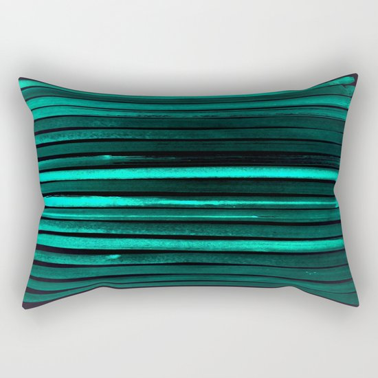 We Have Cold Winter Teal Dreams At Night Rectangular Pillow