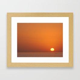 Sunset over Rio de la Plata Framed Art Print
