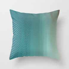 Under glitch sea  Throw Pillow