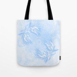 Delicate wattle bouquet in blue Tote Bag
