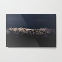 Dreamy sunset on the mountain top Metal Print