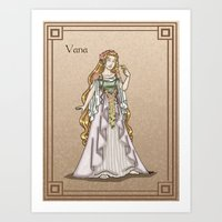 valar morghulis Art Prints featuring Vana by wolfanita