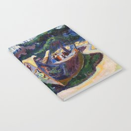 Emily Carr First Nations War Canoes in Alert Bay Notebook