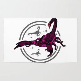 PINK Scorpion Rug