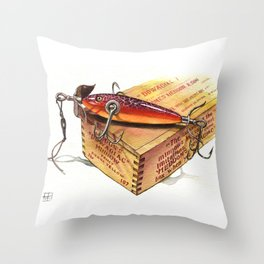 heddon 100 rainbow cup rig 1908 Throw Pillow