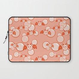 Bubbles and Bats Peach Laptop Sleeve