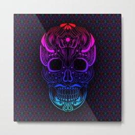The Skull & The Ram Metal Print
