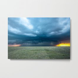Regeneration - Storm Strengthens With Amazing Color in Texas Metal Print