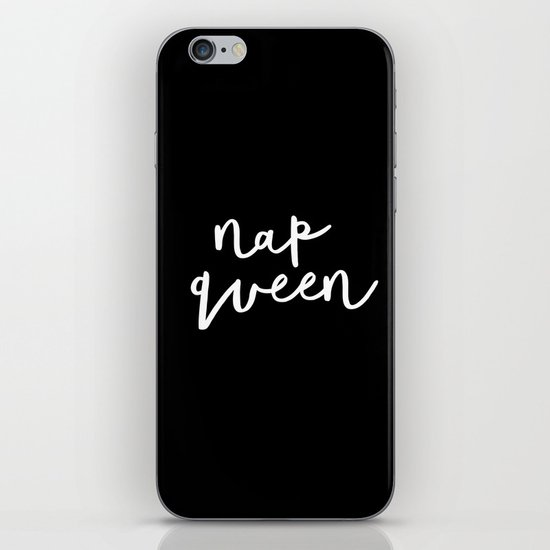 Nap Queen black and white typography design home wall decor bedroom gift for girlfriend by themotivatedtype
