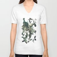 woodland V-neck T-shirts featuring Woodland by Sander Smit