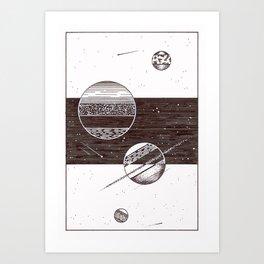 Space Stripes Art Print