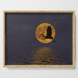 Heron & The Harvest Moon Serving Tray