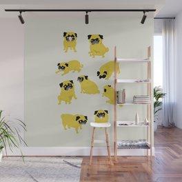 Good Vibes With Nasty The Pug Wall Mural