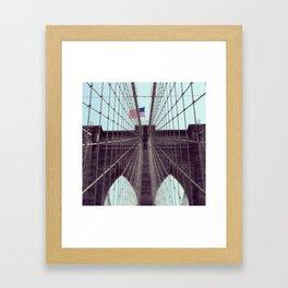 Pont De Brooklyn  Framed Art Print