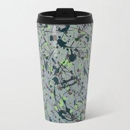 Modern Splatter Paint Art Travel Mug