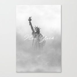 New York - Typography on Photography Print Canvas Print
