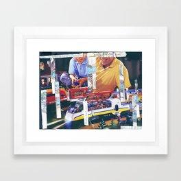 Matthew Loved Trains Framed Art Print