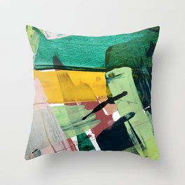 Hopeful[3] - a bright mixed media abstract piece Throw Pillow