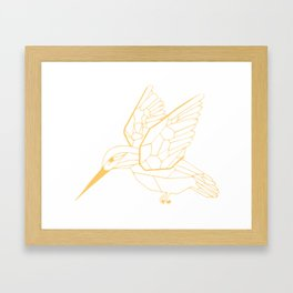 Kingfisher Butterscotch Framed Art Print
