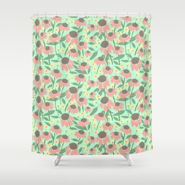 Echinacea and Coreopsis Shower Curtain