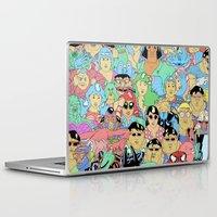 it crowd Laptop & iPad Skins featuring Crowd by Joseph Falzon