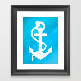 White Anchor Framed Art Print