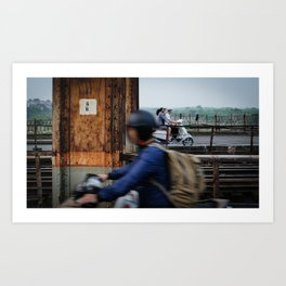 Passing Glance Hanoi Art Print