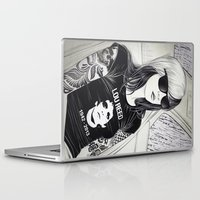 lou reed Laptop & iPad Skins featuring Lou Reed by IvándelgadoART