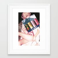 coke Framed Art Prints featuring COKE by Rayane Guedes XII