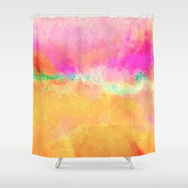 Modern Pastel Rainbow Cascade Abstract Shower Curtain