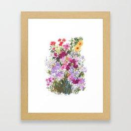 Grand Hotel Floral Framed Art Print
