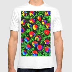 Colorful Nuts Mens Fitted Tee MEDIUM White