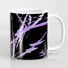 Purple on black Mug