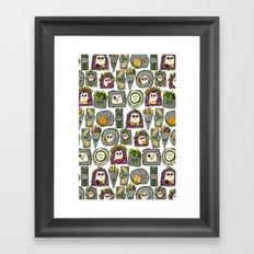 veggie sushi white Framed Art Print