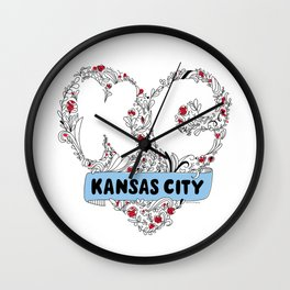 Kansas City Love Wall Clock