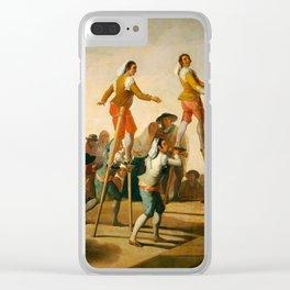 "Francisco Goya ""Stilts"" Clear iPhone Case"