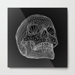 Vector Skull Metal Print