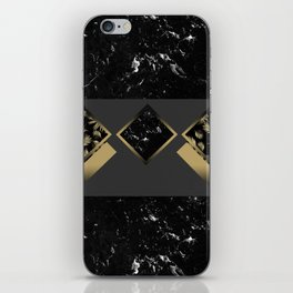 Black Marble Meets Tropical Palms Geo #1 #decor #art #society6 iPhone Skin