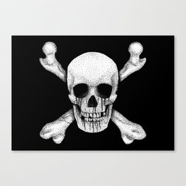 Jolly Roger Pirate Skull Flag Canvas Print