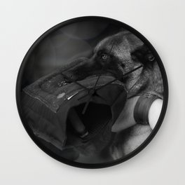 Strong companion in life, the guard dog Wall Clock