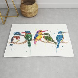 Kingfishers of the World Rug