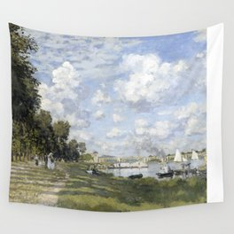1872-Claude Monet-Bassin d'Argenteuil-60 x 80 Wall Tapestry