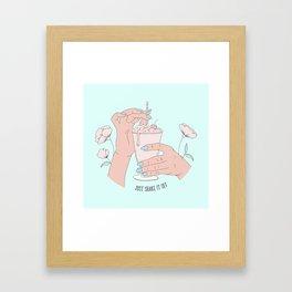 Shake It Out Framed Art Print