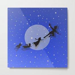 Peter Pan Magical Night Metal Print