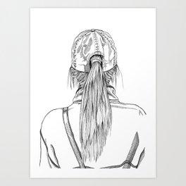 Ponytail Girl Art Print