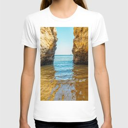 Rocks And Ocean Landscape In Lagos, Wall Art Print, Landscape Art, Poster Decor, Large Photo T-shirt